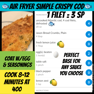 Crispy Cod Quick Visual Guide