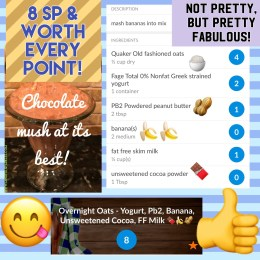 SmartPoints Quick Visual Guide: Chocolate Oatmeal Breakfast