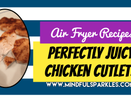 Chicken Cutlets for Newbie Air Fryers
