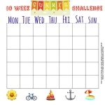 Summer Themed Blank grid