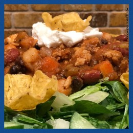 Chili over salad is one of my favorite filling meals!