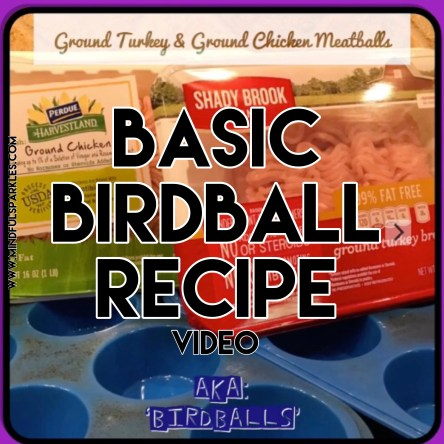Quick Video showing how easy it is to make a juicy ground turkey and ground chicken meatball.