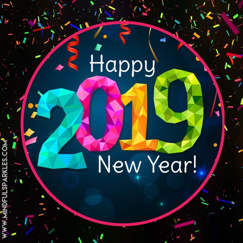 Happy New Year 2019 Graphic Cheers to New Years Title #CheersToNewYears