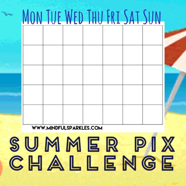 Summer Pix Challenge with Days of the week