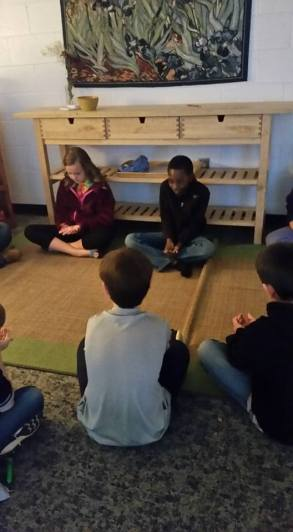 upper elementary pebble meditation