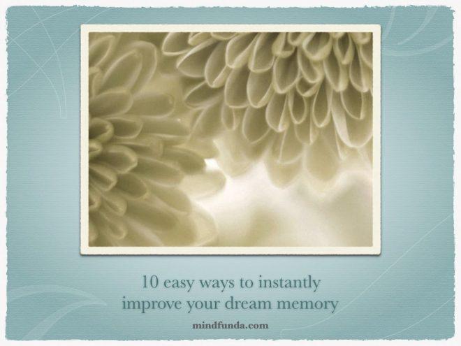 eBook: 10 ways to improve dream memory - Mindfunda