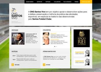 Website ONG Santos Vivo