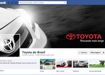 Design Facebook Toyota do Brasil