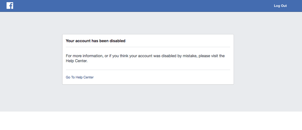 Facebook Disabled My Account, and I Couldn't be More
