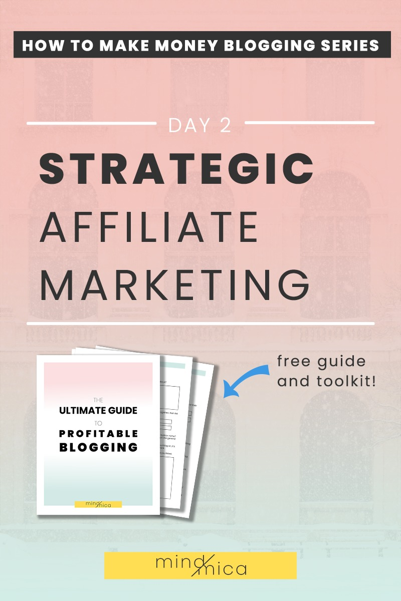 Affiliate marketing not working for you? That's probably because you need a more strategic approach. Learn easy affiliate marketing strategies here, perfect for new bloggers, so that you can use affiliate marketing to make money blogging.