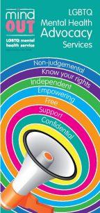 mindout lgbtq mental health advocacy service leaflet