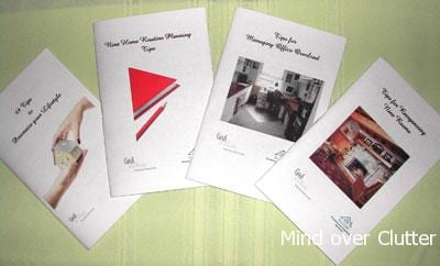 organizing tips booklets