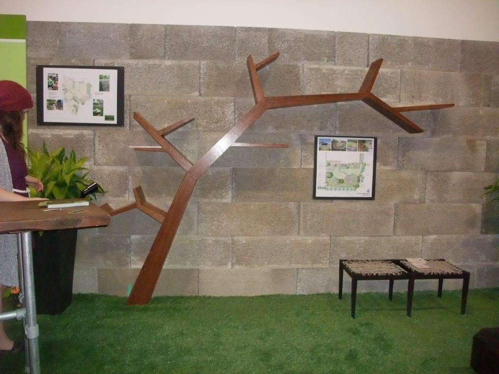 wooden tree artwork