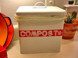 Plastic counter top compost bin