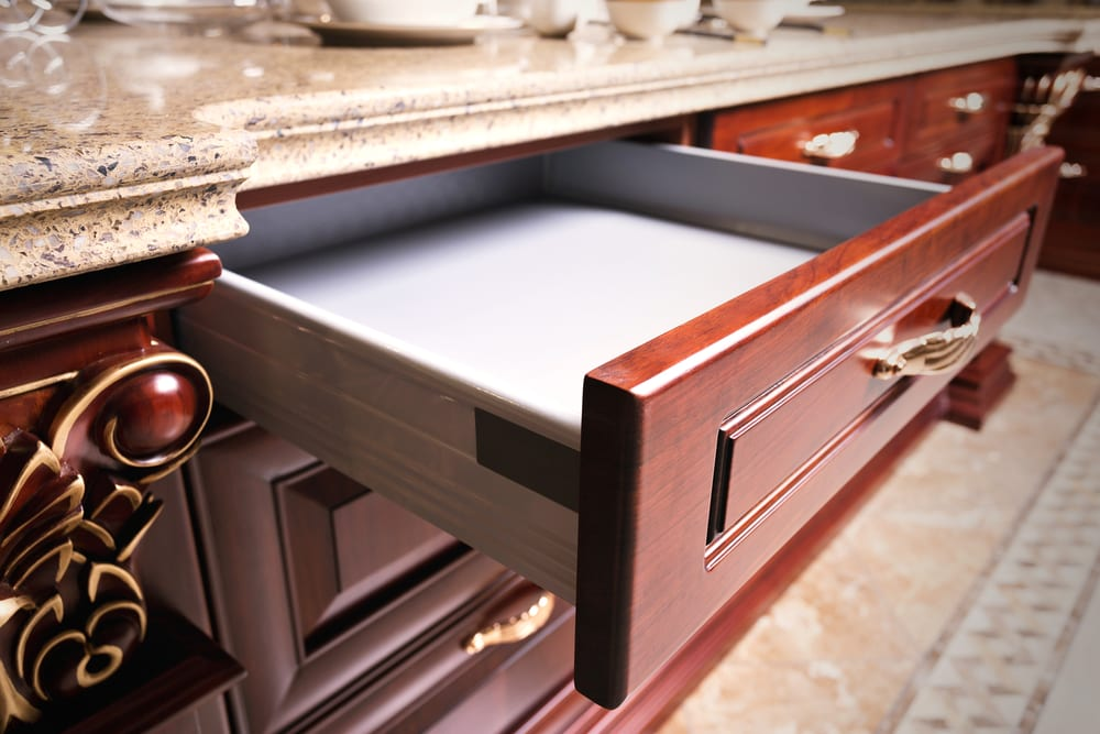 Use one drawer to store items that are handy to have close at hand, marker, tape, screwdriver