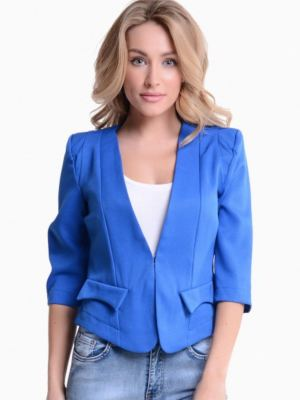 Blue Cropped Blazer