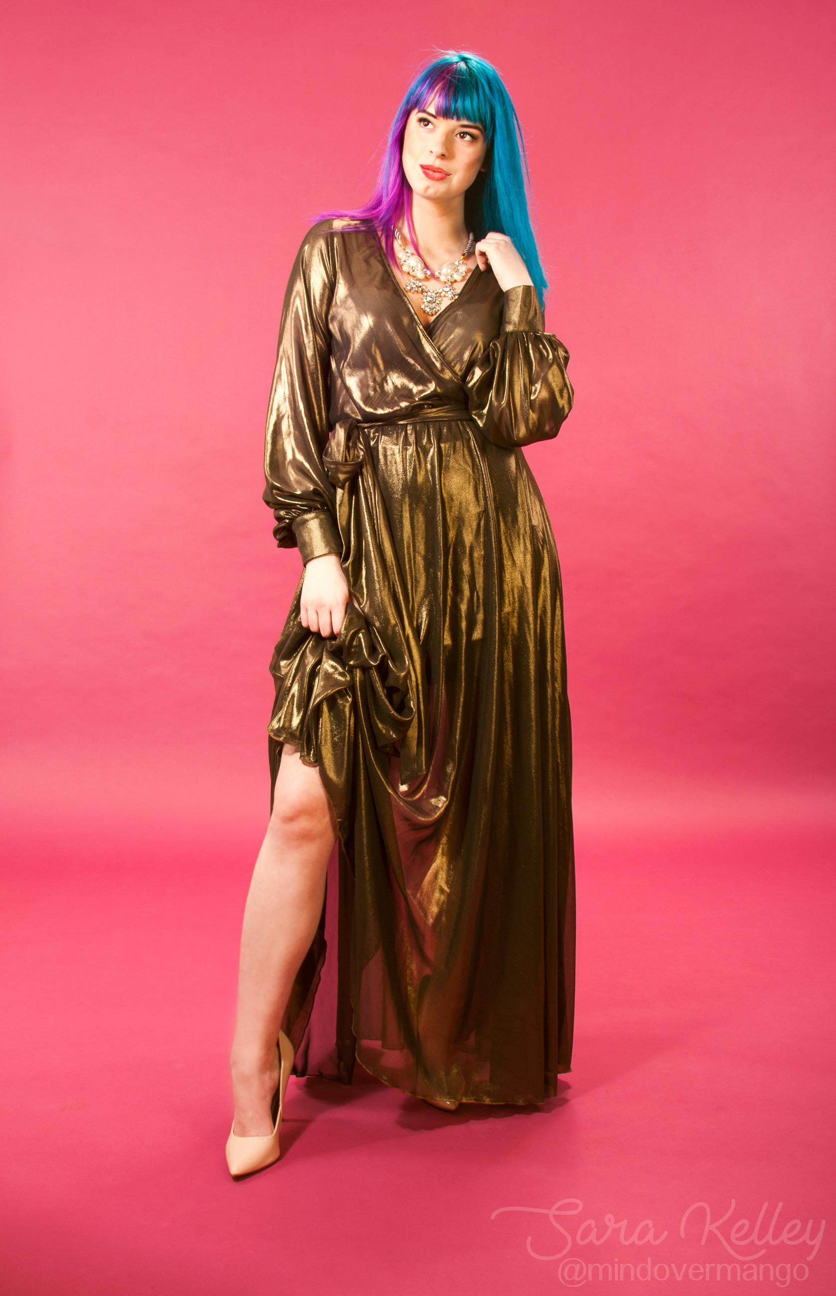 Modeling Autumn Hawk Loren Dress Model Photoshoot