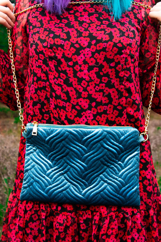 Traffic People AW18 Velvet Handbag