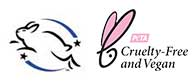 Leaping Bunny & PETA Vegan Certified