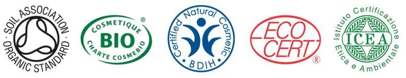 Organic Certification Logos COSMOS-standard