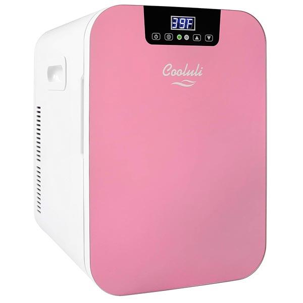 Cooluli Pink 20 Liter Skincare Fridge