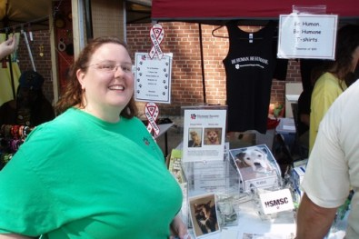 Memphis Humane Society booth at Coop Young fest