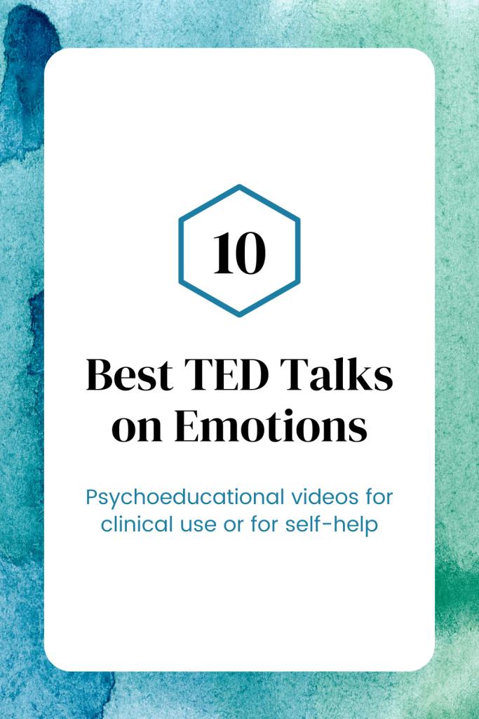 TED Talks on emotions