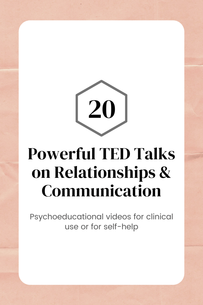 TED Talks on relationships