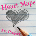 This heart maps art project allows the artist to express their individual traits and hobbies, as well as things that are important to them. Great for decor!