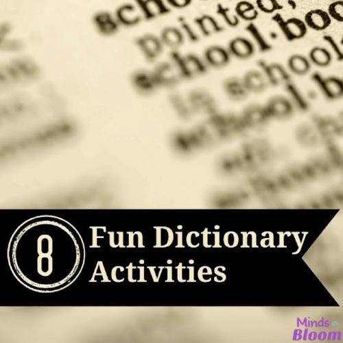 8 Fun Dictionary Activities