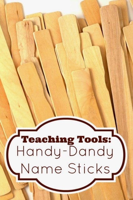 Do you use name sticks? This is one of my suggestions for my Teaching Tools series, and it's a super cheap and easy way to call on students, form pairs or groups, make selections for activities, and more. Click through to read my suggestions!