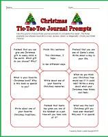 Christmas Tic-Tac-Toe Journal Prompts