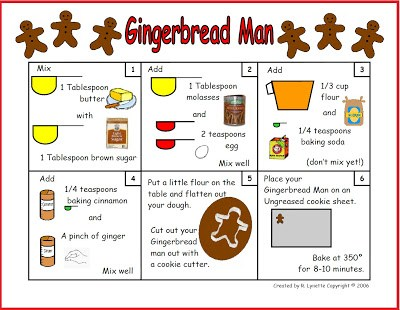 Check out this gingerbread man recipe in pictures--it's perfect for small children! Your kids will enjoy making this recipe with step-by-step pictures!