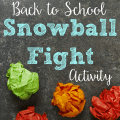 """This back to school """"snowball"""" fight activity will have your students getting up and moving around the classroom to get to know each other. Extend the activity by repeating it with new facts--or use the same ones again!"""