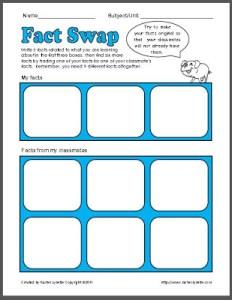 Fact Swap Freebie!