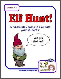 FREE Elf Hunt Christmas Week Activity!