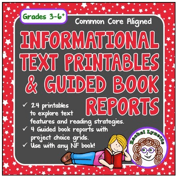 Informational Text Printables and Guided Book Reports