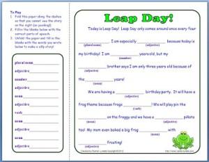 FREE Leap Day Mad Lib!