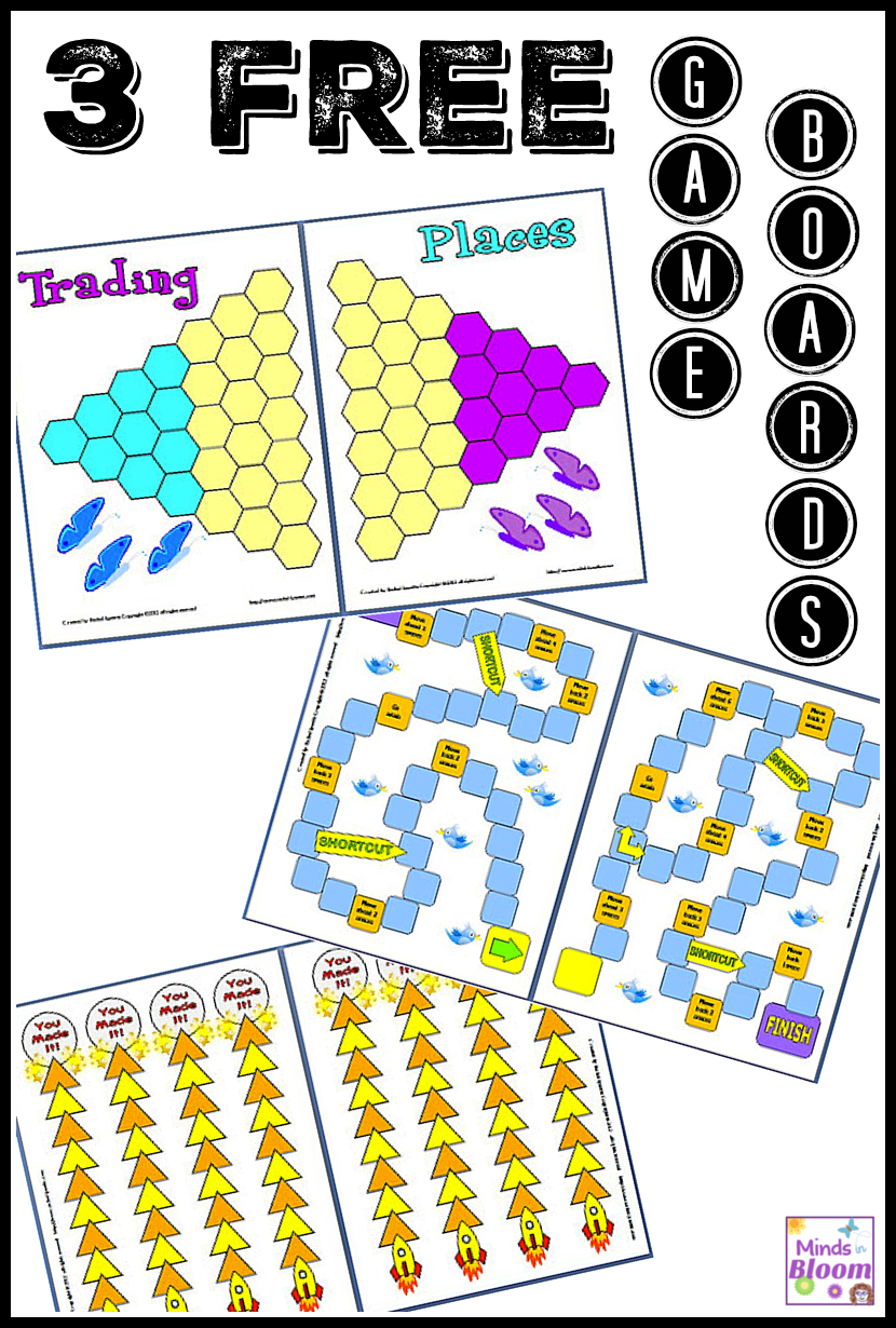 Task cards or flashcards can also be used with games with great success. These three free game boards incorporate task cards to have students learning and having fun while they do so! Click through to learn about each game board and to download them FREE!