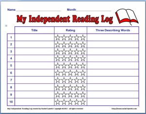 Free: Monthly Independent Reading Log