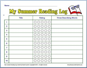 Free Summer Reading Log!