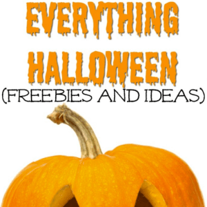 Everything Halloween (Freebies and Ideas)
