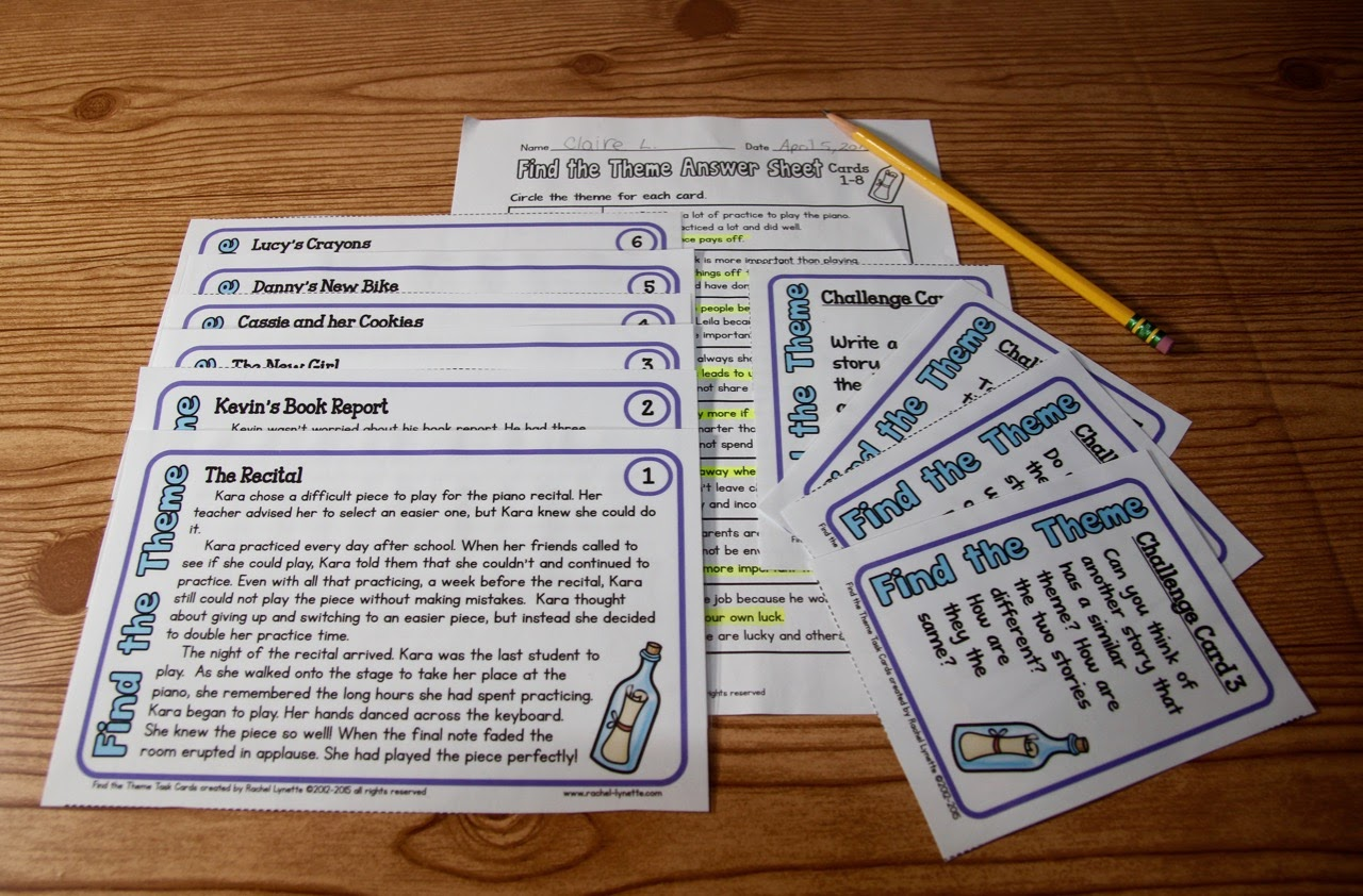 Ideas For Teaching Theme And A Couple Freebies