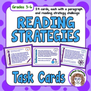 Reading Strategy Task Cards – FREE
