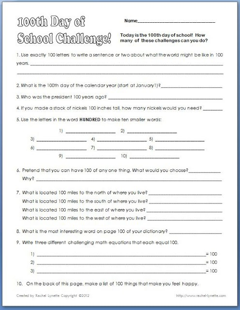 The 100th day of school is an exciting day in elementary school! You can still celebrate the 100th day in the upper elementary grades with the help of this freebie. Click through to download your copy!