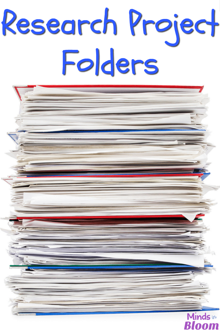 Research project folders provide a simple way for students to gather and organize information that they research, as well as their sources for that information. Only a few supplies are needed, and the folders even lend to helping students quickly and easily writing rough drafts of their research papers!