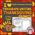 Thanksgiving is a wonderful time to not only teach about gratitude but to also teach about history. These Thanksgiving writing prompts will allow your students to explore these themes and thoughts through their writing.