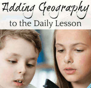 Adding Geography to the Daily Lesson