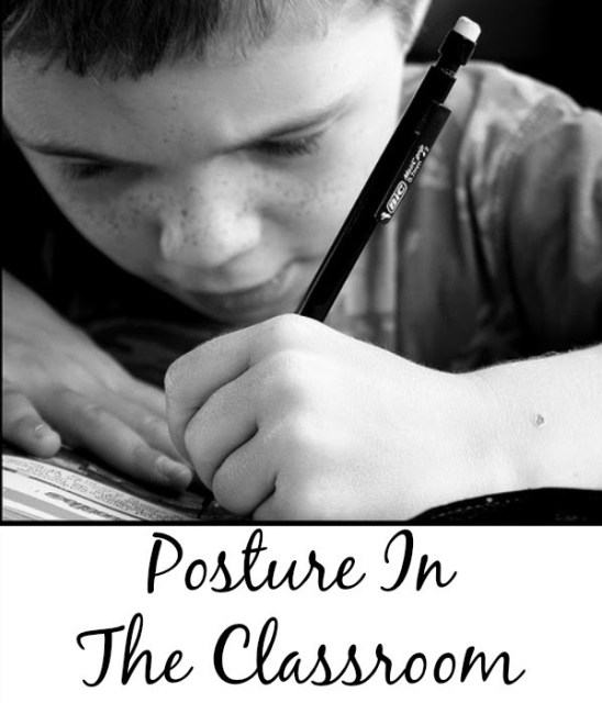 A registered physical therapist shares her insight and tips on how to improve students' posture in the classroom in order to enhance focus and learning. Click through to read all of her insight and recommendations, because good posture truly helps student learning!