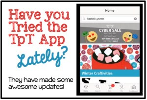 The TpT Mobile App – Updated and Awesome!